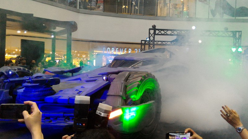 batmobile still on display at the SM Nort EDSA until April 3