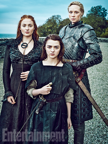 game of thrones entertainment weekly  sansa-stark-arya-stark-brienne-000221373