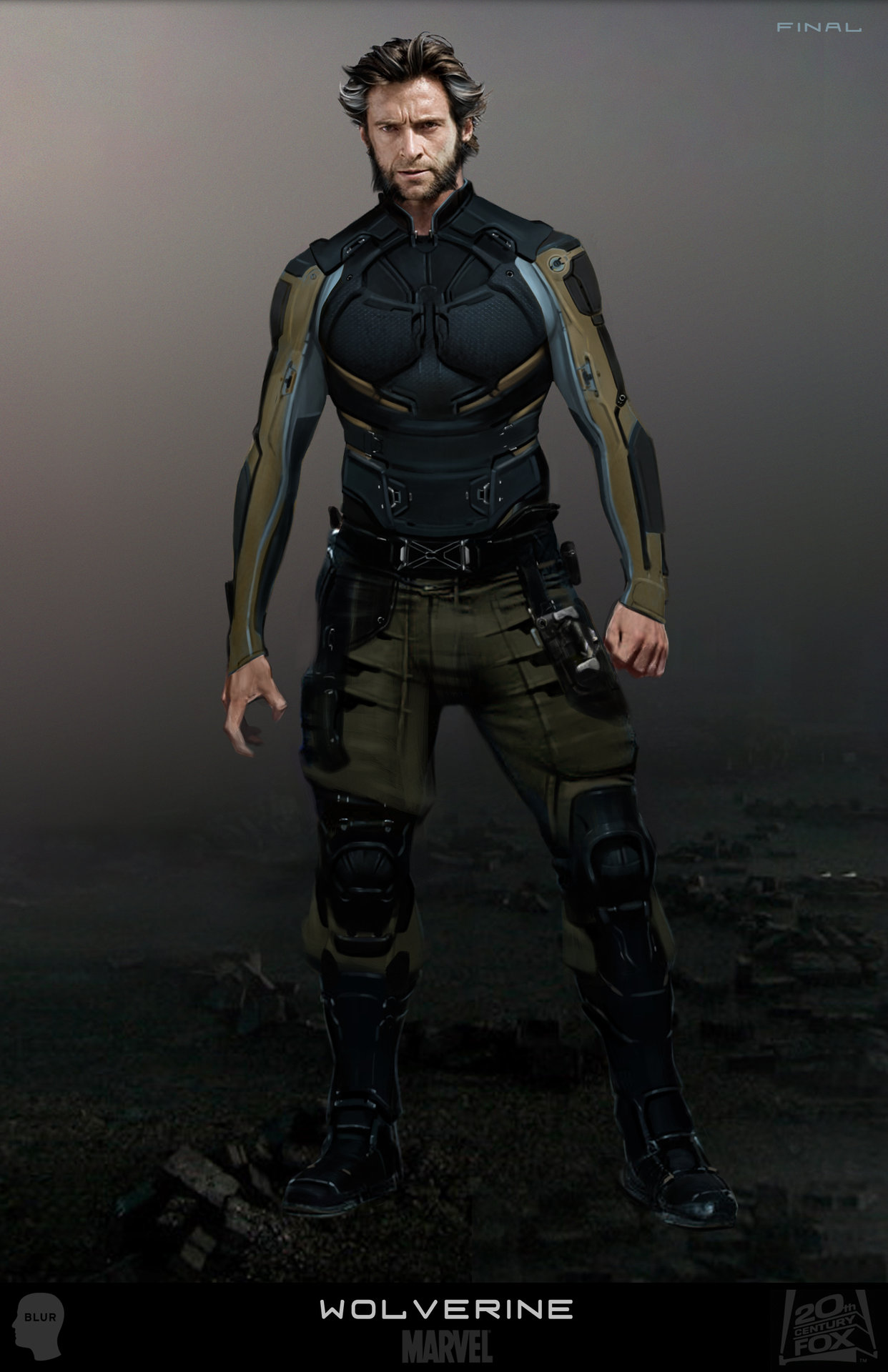 x-men days of future past wolverine concept art joshua james (6)