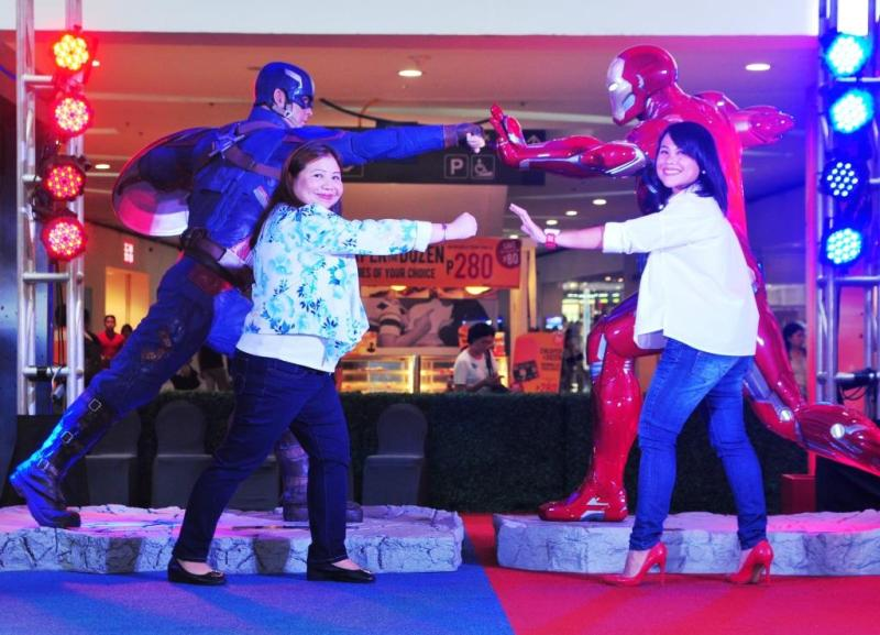 Nicole Deato, AVP for Cinema & Exhibition and Digital Media, SM Lifestyle Entertainment, Inc. and Anna Driz, Head of Marketing, Disney Media + Philippines invites you to make a stand at the Captain America: Civil War exhibit at SM City North EDSA.