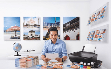 An entrepreneur's business partner, the HP DeskJet GT 5820 enables huge savings with its low-cost printing of up to 8,000 colored pages at only 12 centavos per page.