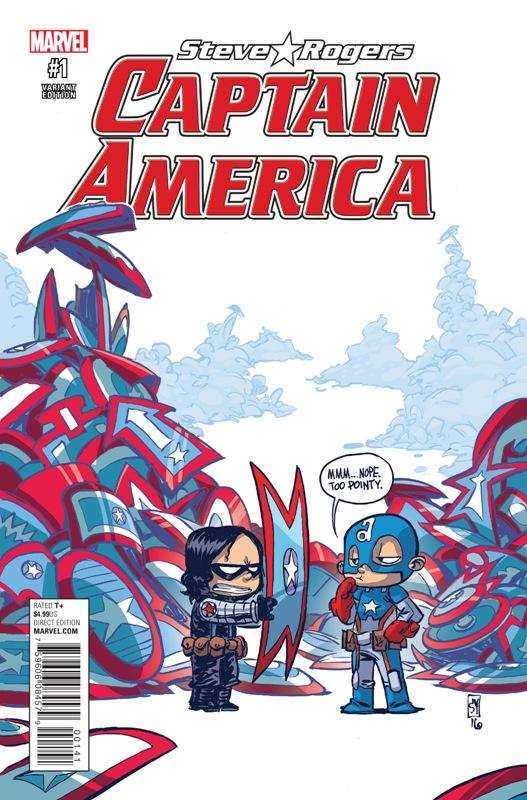 Captain America - Steve Rogers 001-000c (Skottie Young variant)