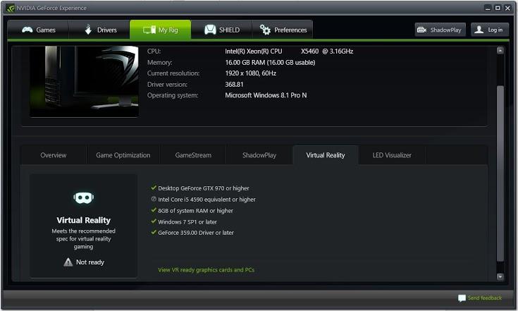 NVIDIA Experience 3