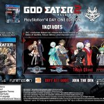 And Now a Look at the God Eater 2: Rage Burst Day One Exlcusives including SAO and Tokyo Ghoul