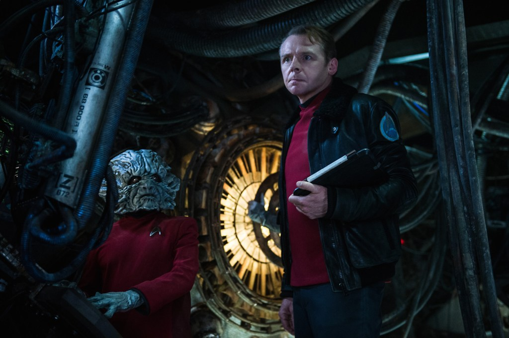 Left to right: Deep Roy plays Keenser and Simon Pegg plays Scotty in Star Trek Beyond from Paramount Pictures, Skydance, Bad Robot, Sneaky Shark and Perfect Storm Entertainment