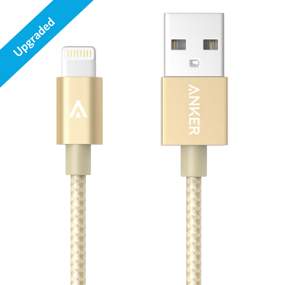 ANKER Nylon Braided Lightning Cable 1m - Gold