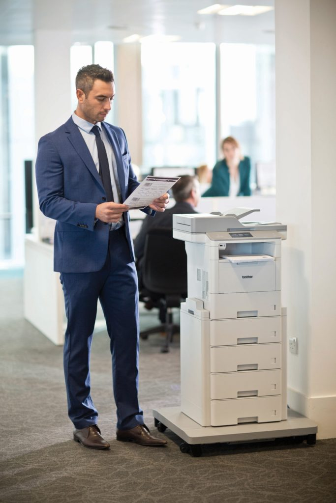 The MFC-L6900DW serves high print volume office environments and delivers high reliability