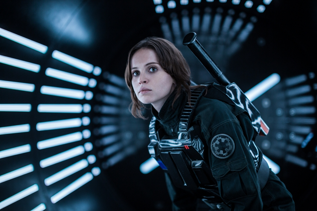 Rogue One: A Star Wars Story Jyn Erso (Felicity Jones) Ph: Jonathan Olley ©Lucasfilm LFL 2016.