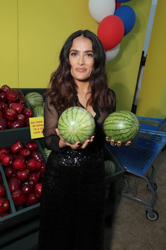 """Salma Hayek seen at Columbia Pictures and AnnaPurna World Premiere of """"Sausage Party"""" on Tuesday, August 9, 2016, in Los Angeles."""