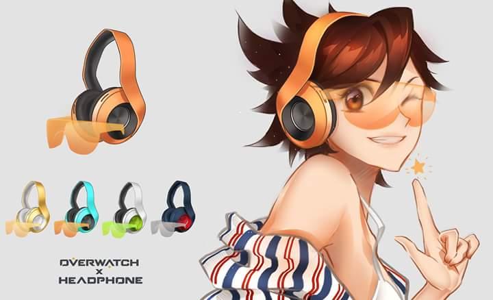 Overwatch headphones tracer