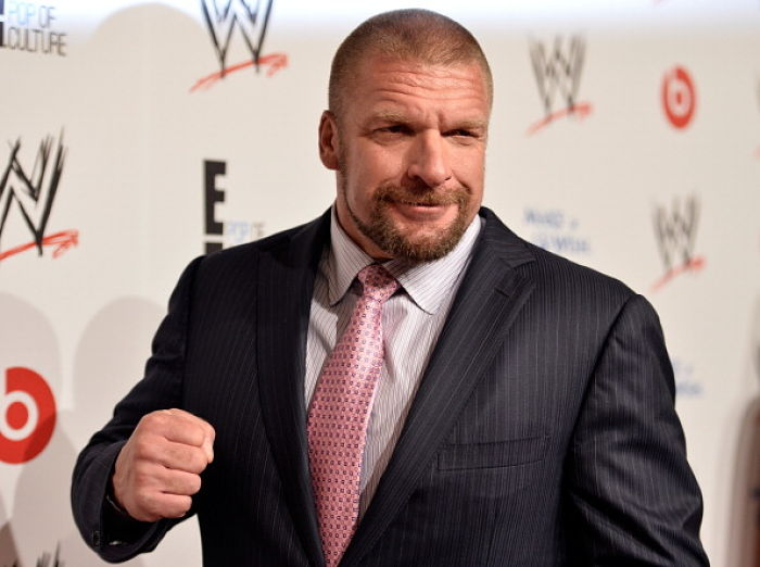 "BEVERLY HILLS, CA - AUGUST 15:  Professional wrestler Paul ""Triple H"" Levesque attends WWE & E! Entertainment's ""SuperStars For Hope"" at the Beverly Hills Hotel on August 15, 2013 in Beverly Hills, California.  (Photo by Frazer Harrison/Getty Images for WWE)"