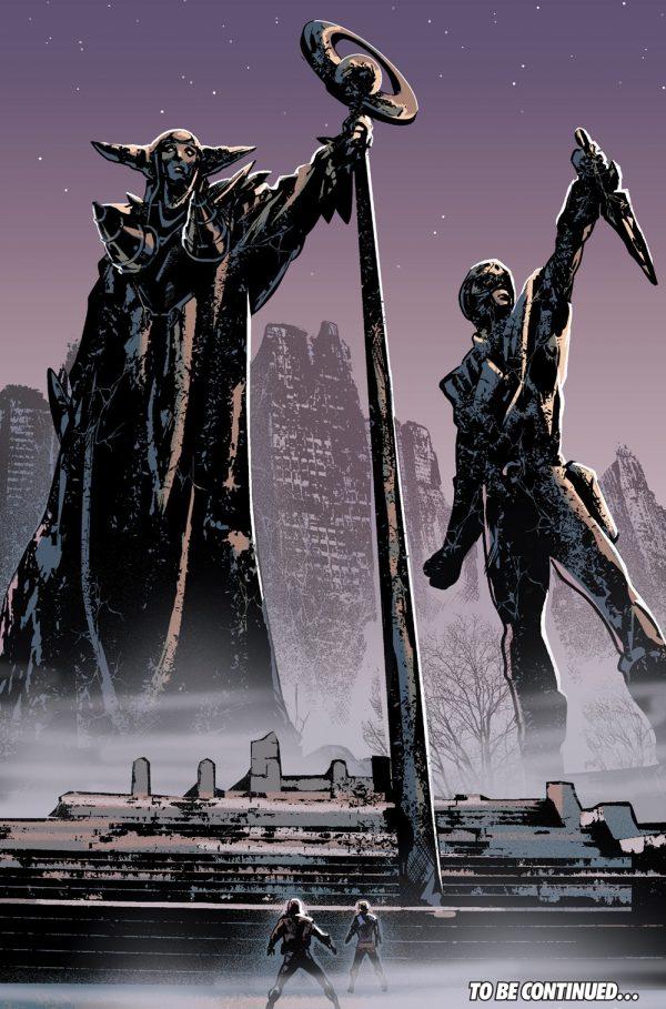 mighty-morphin-power-rangers-9-spoilers-rita-repulsa-statue-and-green-ranger-statue