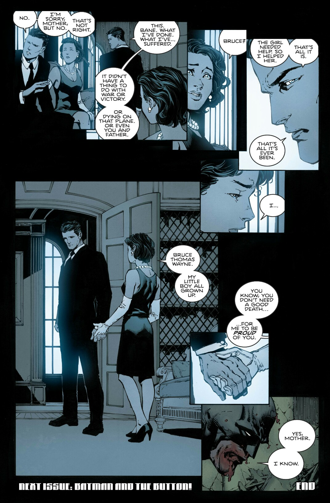 Batman # 20 bruce and martha