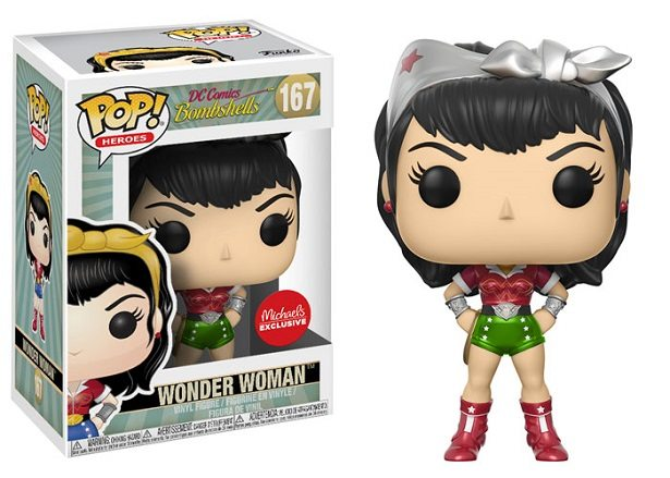 dc comics bombshells funko pop wonder woman exclusive