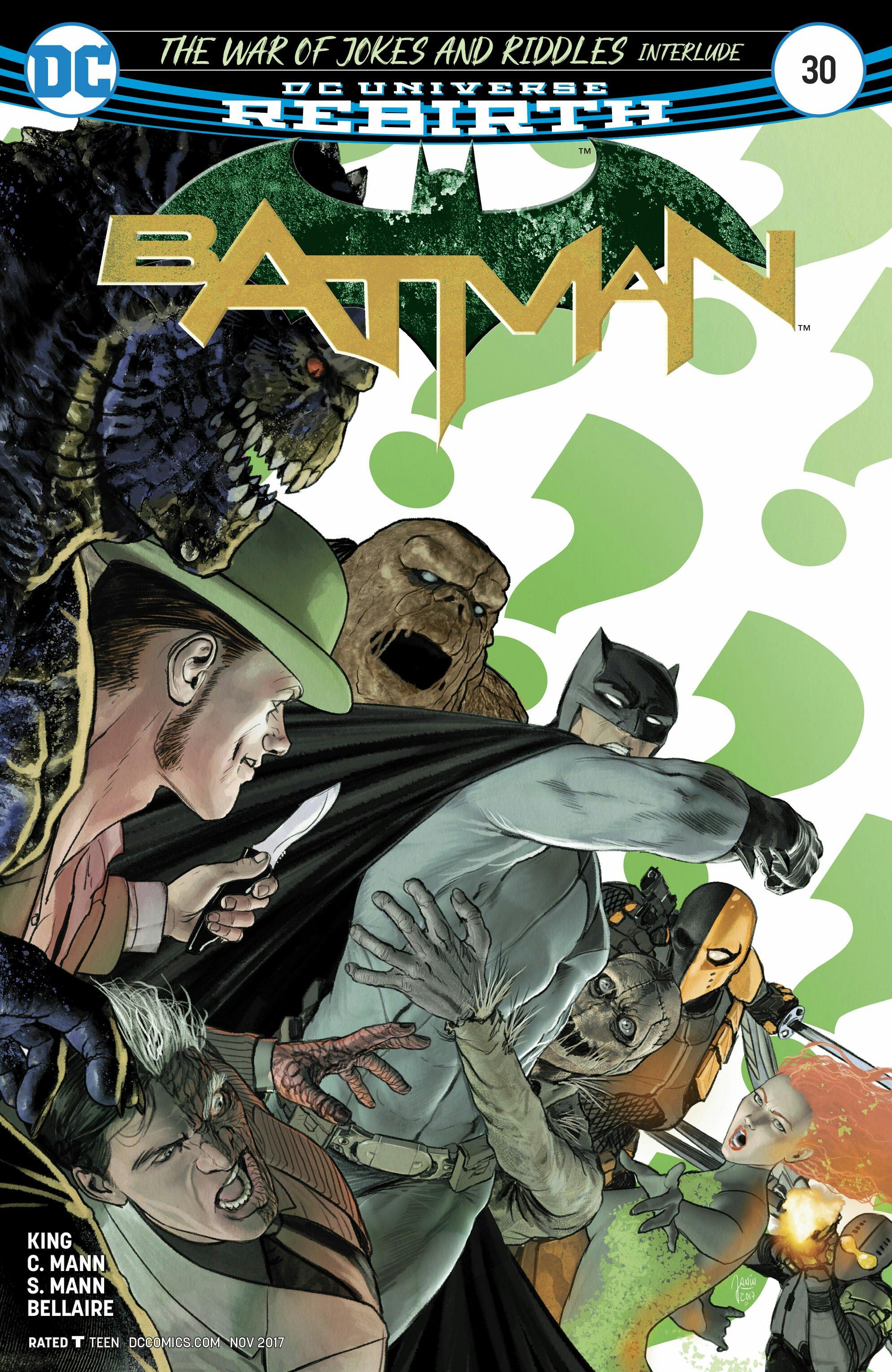 Batman # 30 mikel janin cover