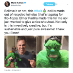 Thor: Ragnarok Actor Mark Ruffalo Praises Pinoy Who Made Hulk Toy out of Tsinelas