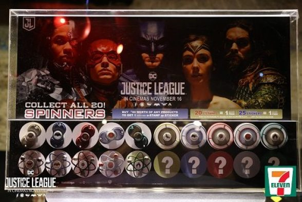 justice league spinners 7eleven cliqq
