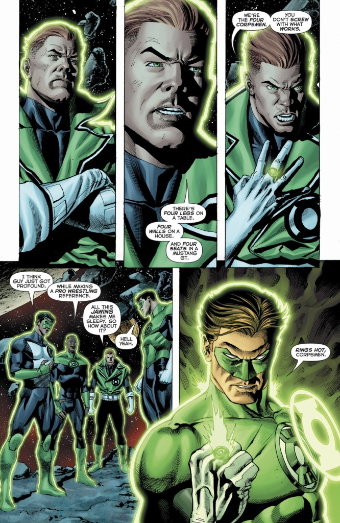 hal jordan and the green lantern # 37 four horsemen