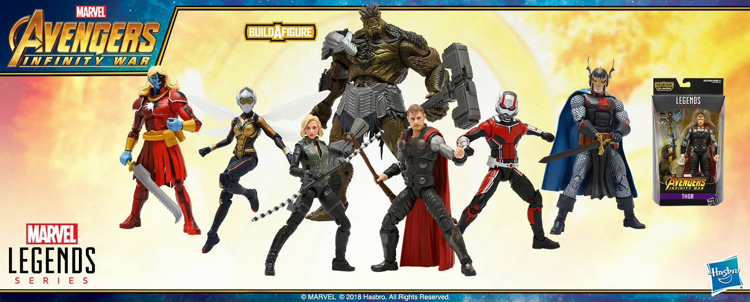 Avengers Infinity War Marvel Legends Wave 2 Official