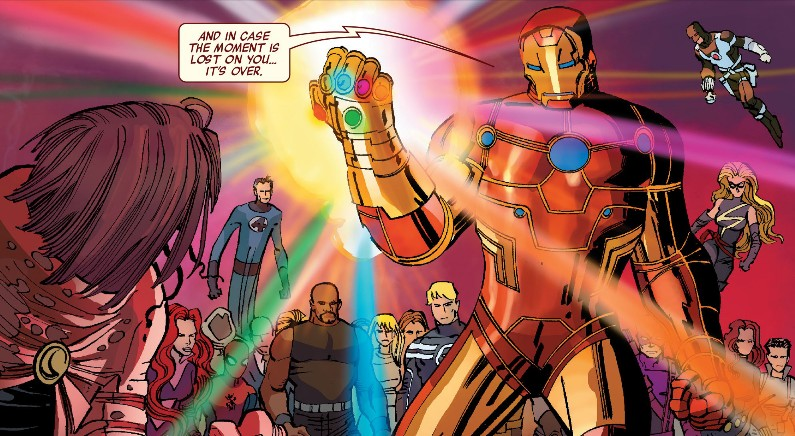 Iron Man Wears the Infinity Gauntlet