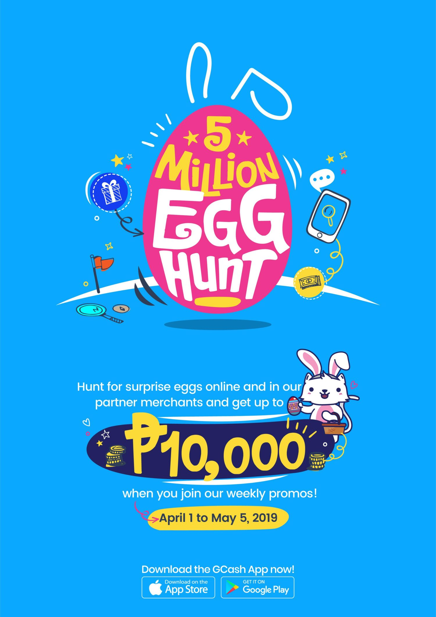P5 Million in Prizes this to be Given Away this Easter with GCash
