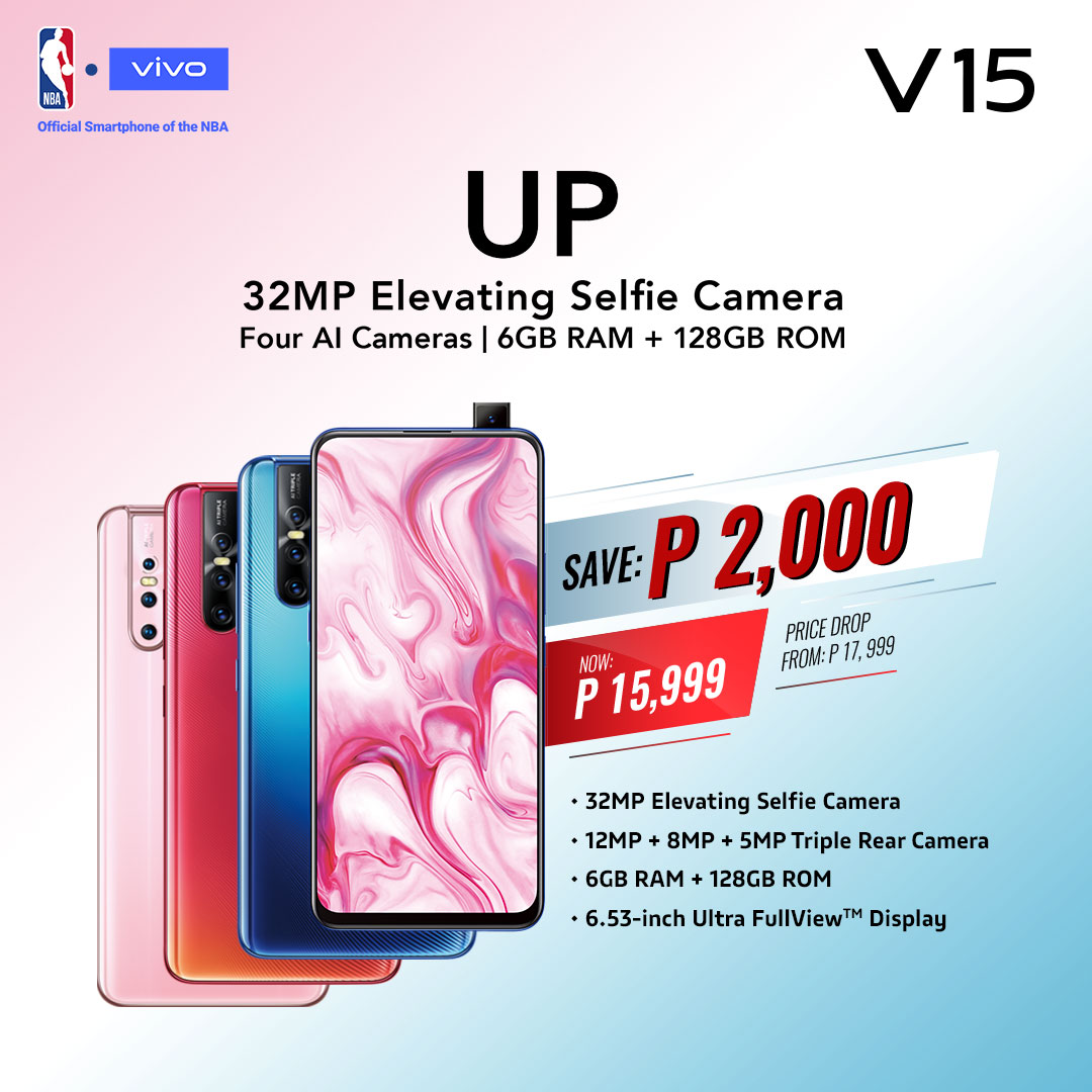 Vivo V15 drops from P17,990 to P15,990