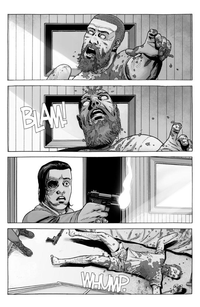 carl grimes kills zombie rick grimes