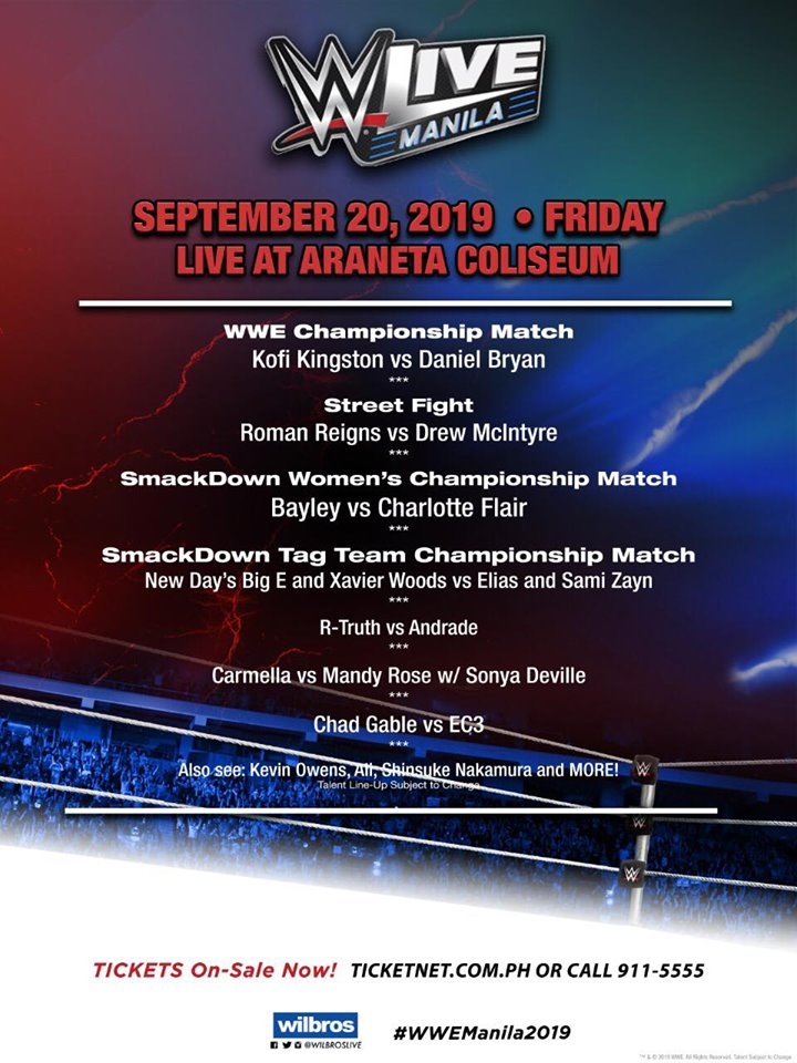 WWE Live Manila roman reigns vs drew mcintyte