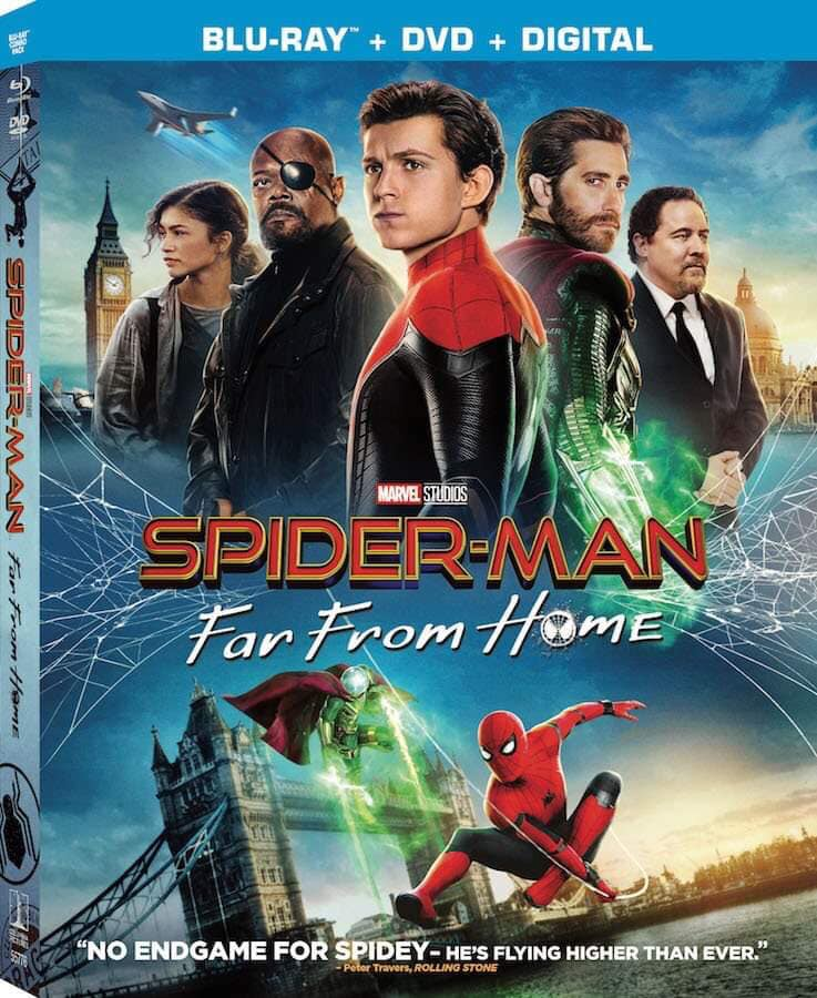 Spider-Man Far From Home DVD And Blu-Ray Collection