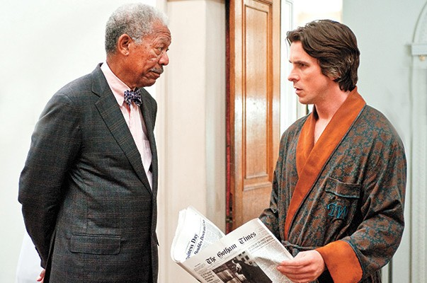 Christian Bale,Morgan Freeman