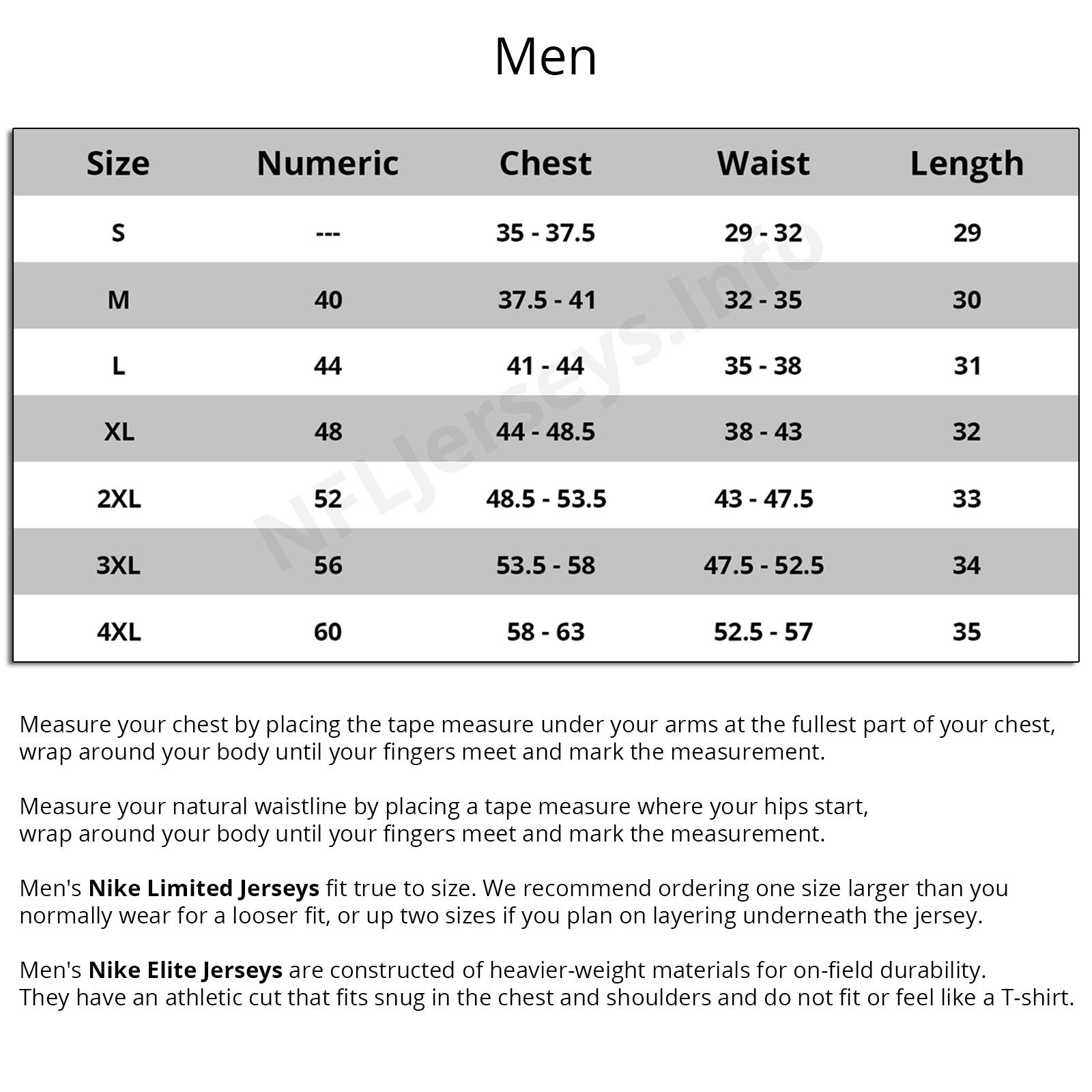 √ reebok football jersey size chart c56623c21