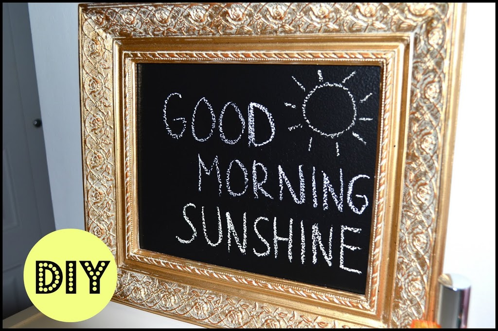 DIY framed chalkboard - Fancy Things