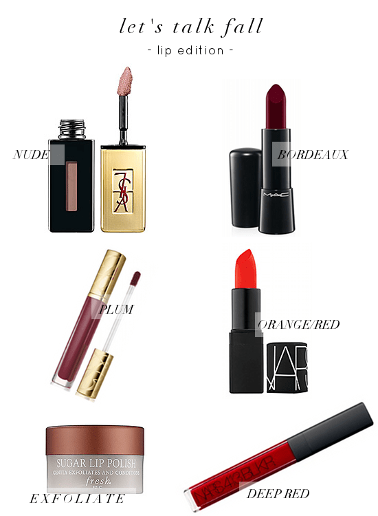 LETS TALK FALL: LIPS