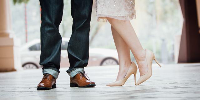 Engagement Shoe Shot
