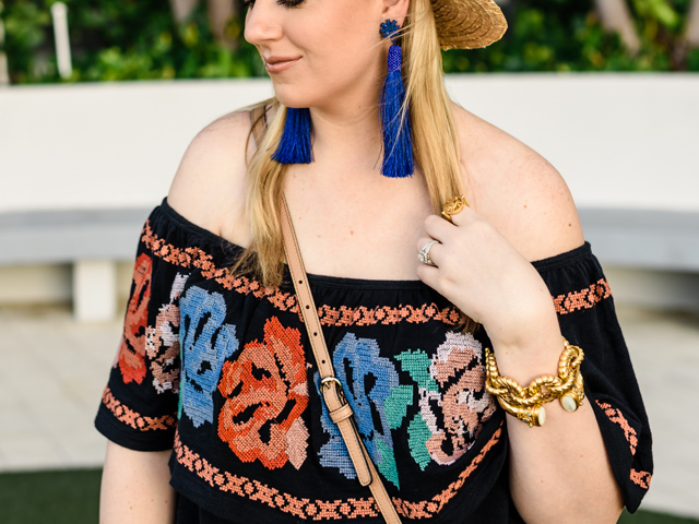 Blue Tassel Earrings Baublebar