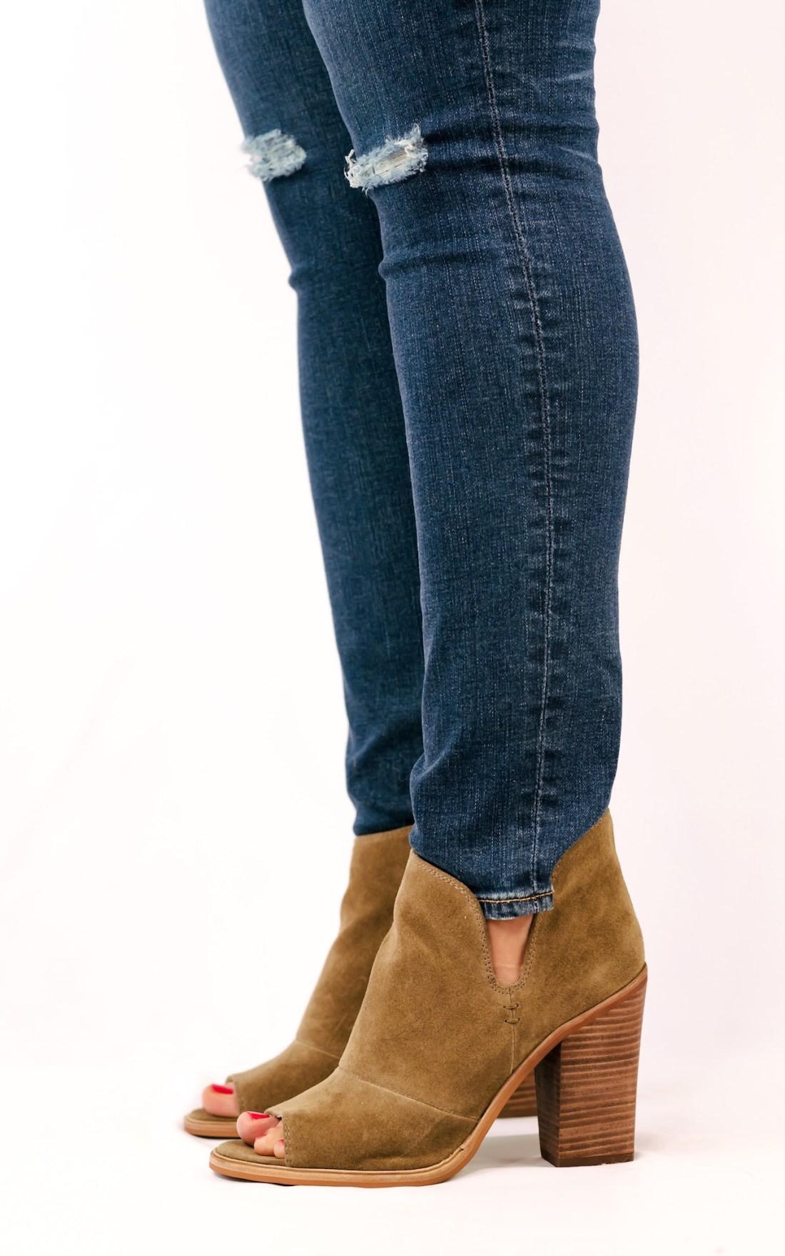 Vince Camuto Katleen Peep Toe Bootie AG Skinny Jeans Nordstrom Fancy Things