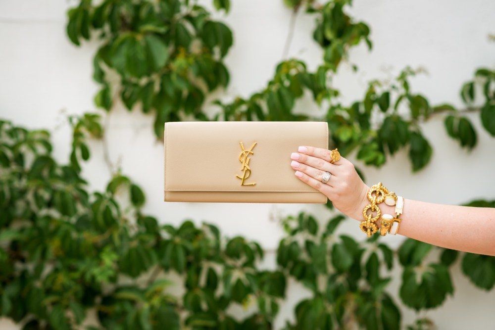 YSL Clutch Beige Fancy Things Handbag