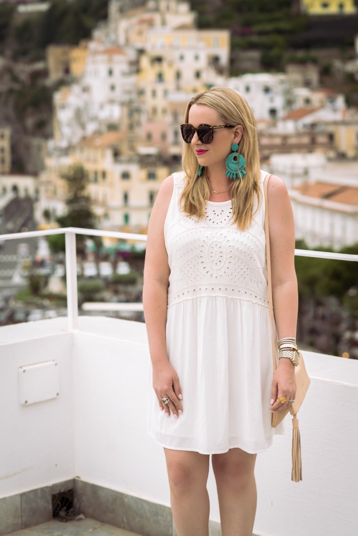 Hinge Eyelet A-Line Dress Fancy Things Italy Honeymoon