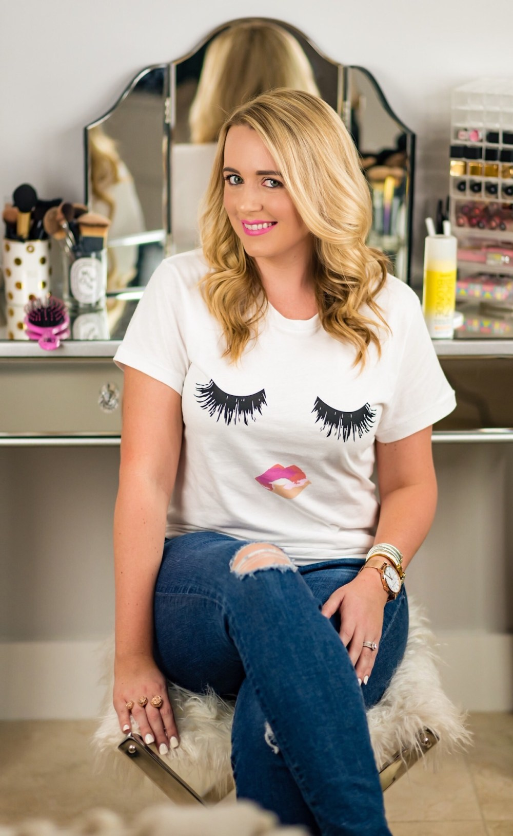 Shop Sincerely Jules Lips and Lashes T-shirt Nordstrom Fancy Things