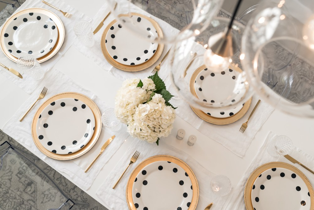 Dinner Party Table Setting Kate Spade Deco Dot Fancy Things