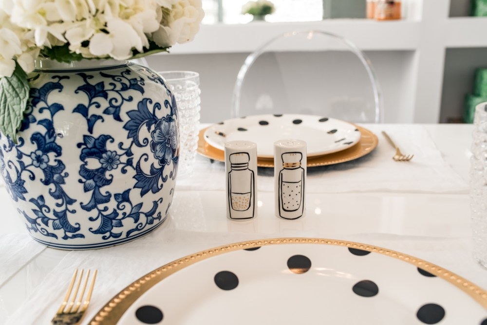 Kate Spade Deco Dot Dinner Plates and Salt and Pepper Shakers Fancy Things