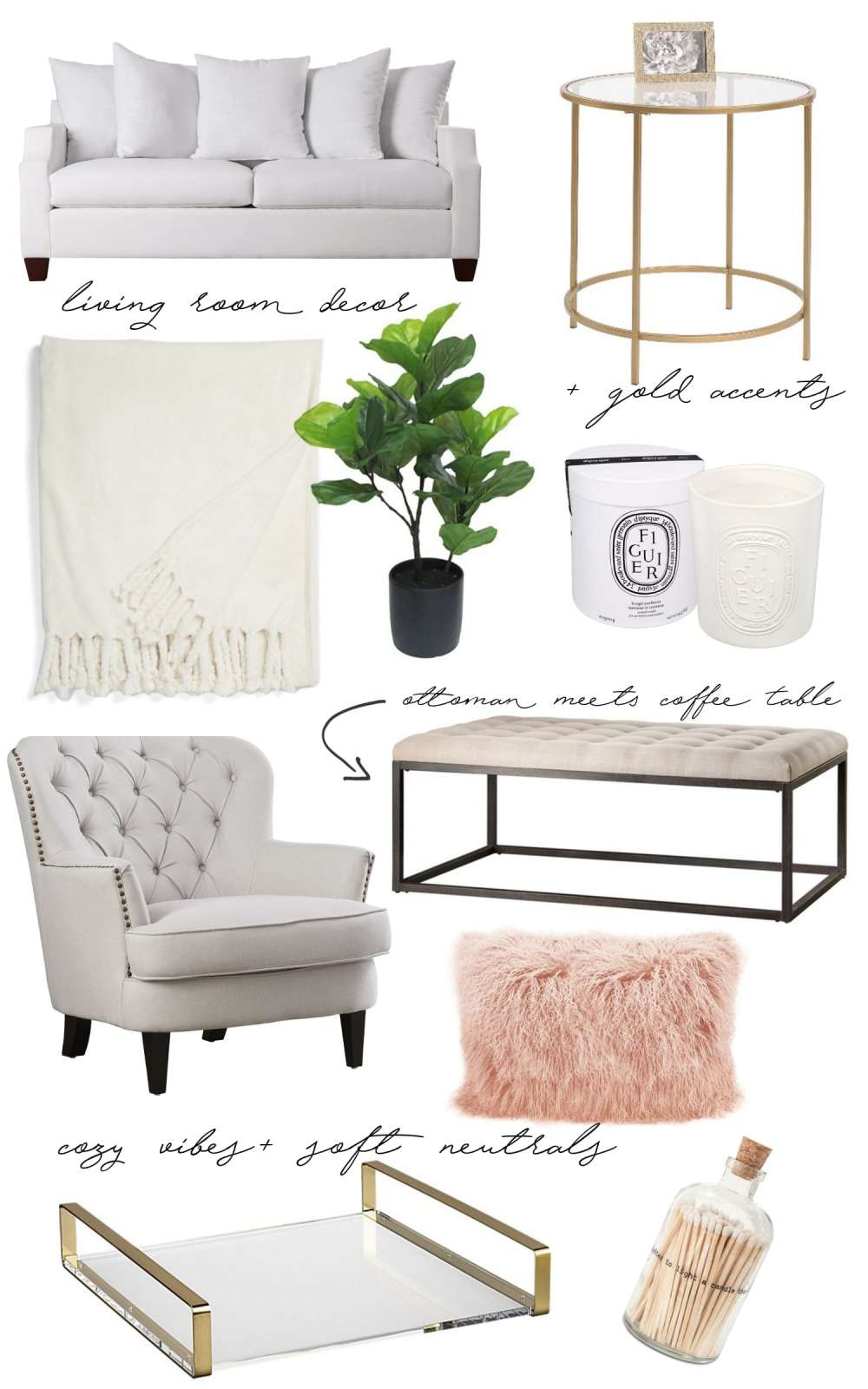 Home Decor Wish List: Fancy Things Living Room