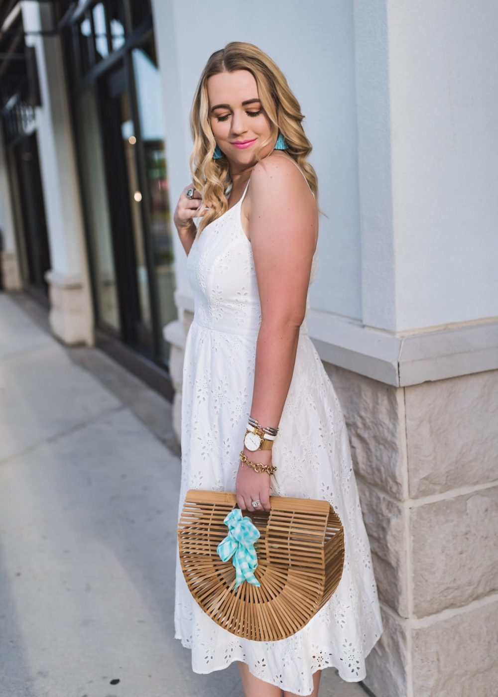 Cute White Eyelet Dress Under $50 from Old Navy Fancy Things