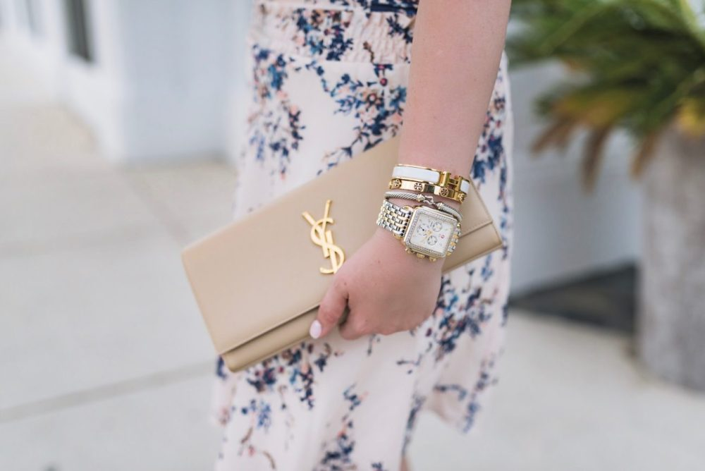 Nude Saint Laurent Designer Clutch Fancy Things