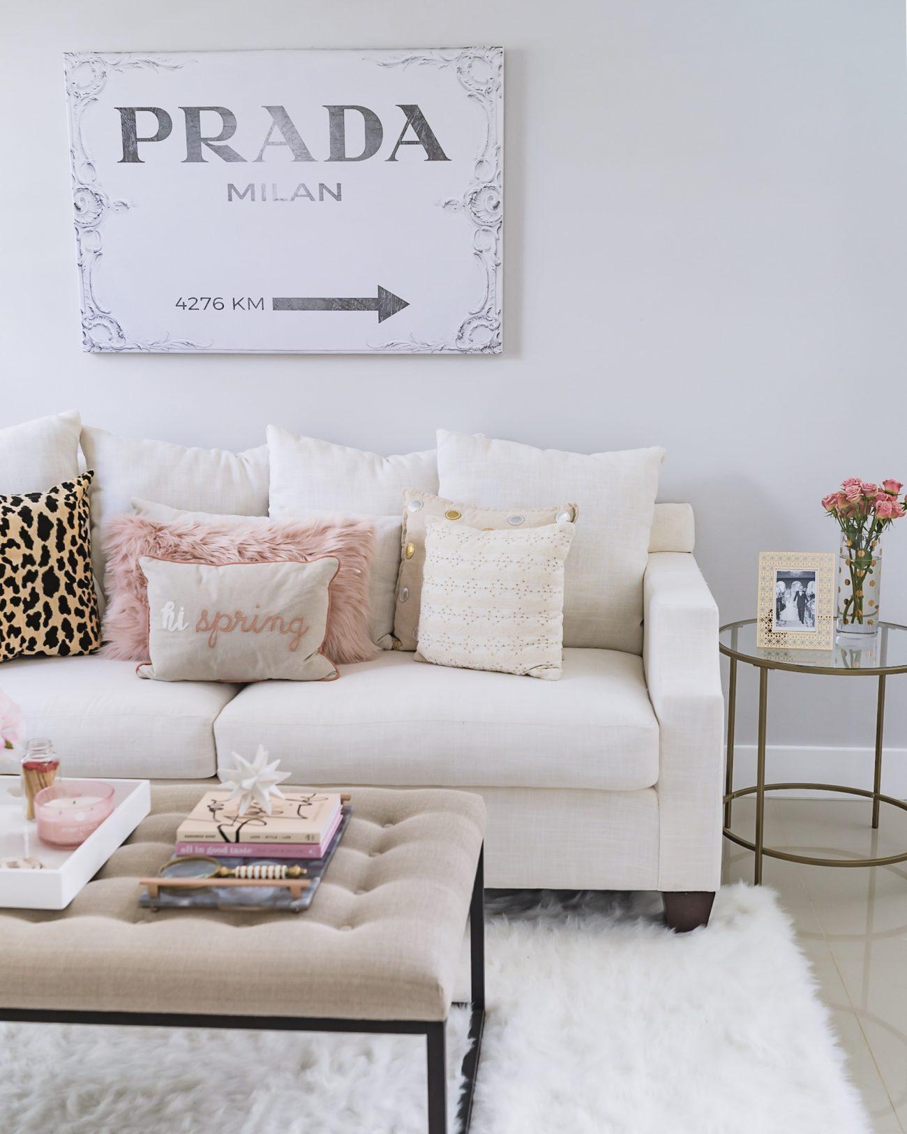Prada Canvas Z Gallerie Artwork Fancy Things Living Room - Fancy Things