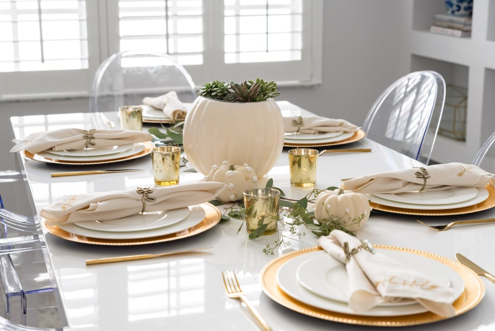 Cozy Glam Fall Tablescape Fancy Things