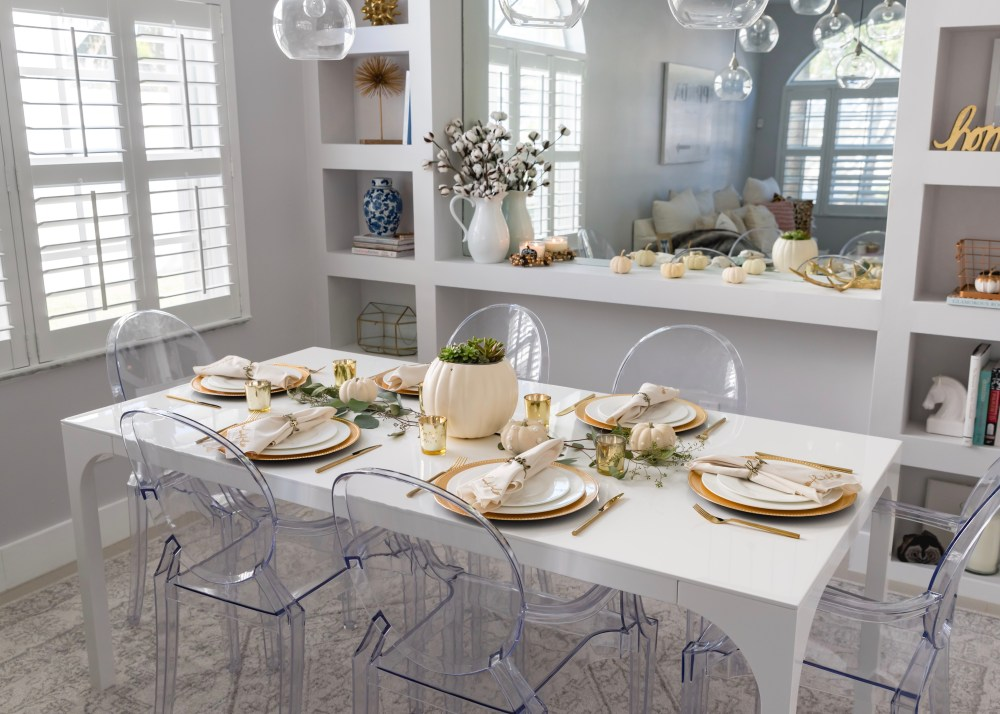 Modern Glam Fall Tablescape Thanksgiving Decor Fancy Things