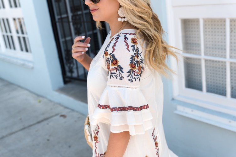 Embroidered Dress in Key West