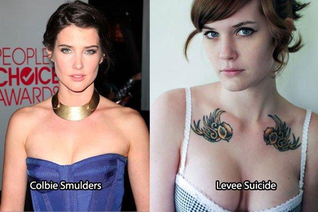 39.Cobie Smulders Levee Suicide