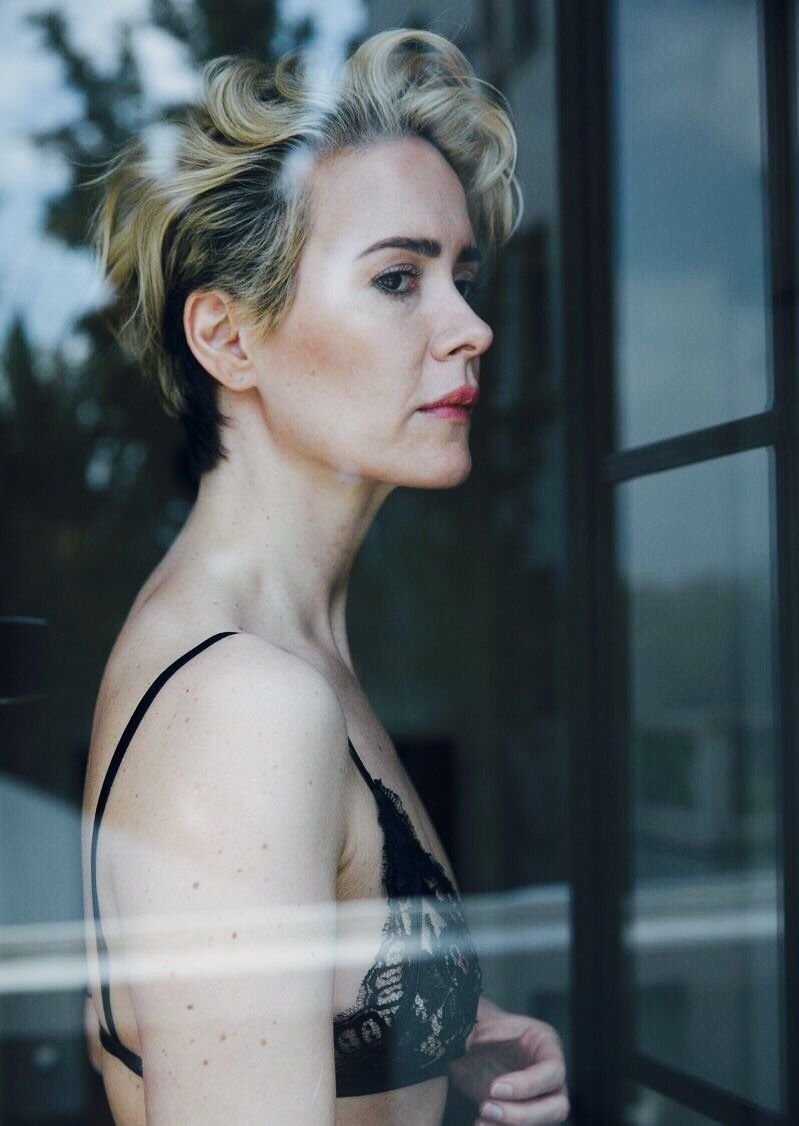 Sarah Paulson Poses Topless in Sultry Spread